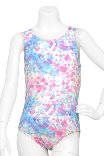 Galaxy Pastel Straps Woven Back Leotard