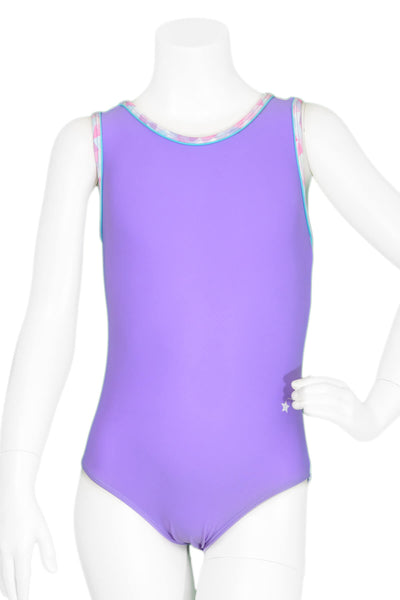 Galaxy In Lilac Racerback Leotard