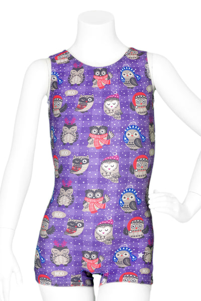 Cozy Owls Unitard