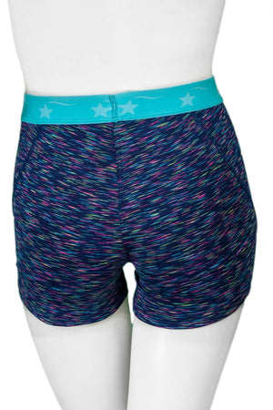 Navy Multi with Turquoise Power Flex Short