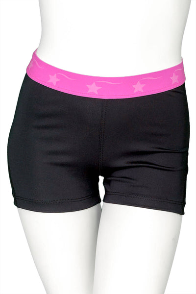 Black with Pink Power Flex Short