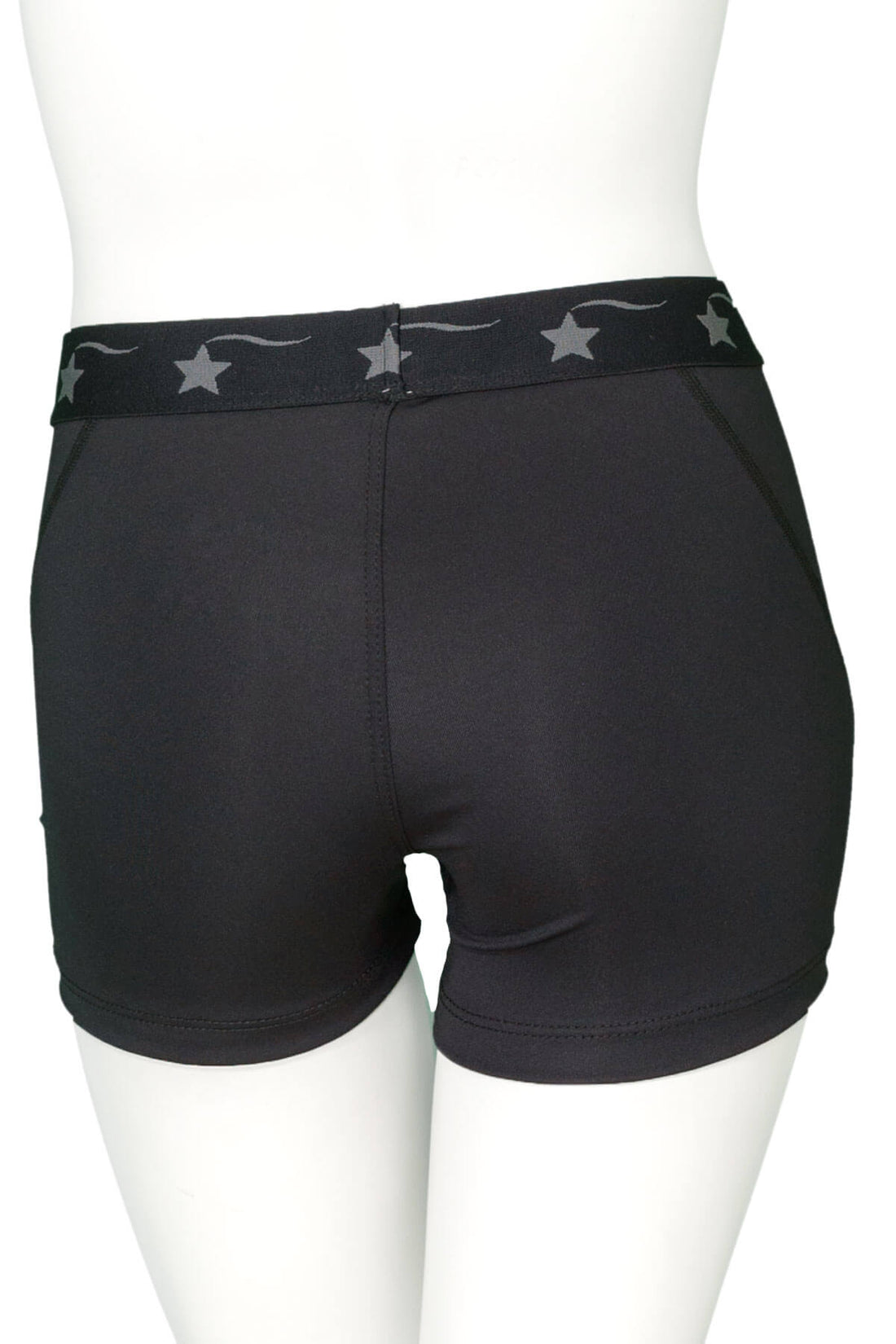 Black with Black Power Flex Short