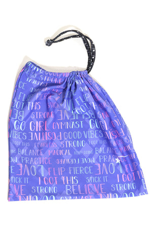 Ombre Words Grip Bag