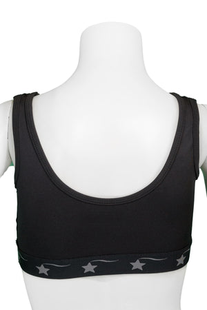 Scoop Neck Sports Bra - Black Dri Tek