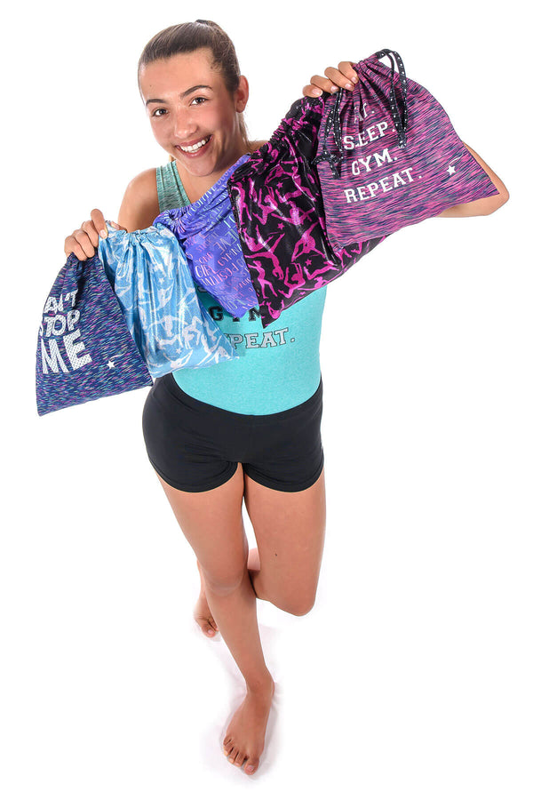 Blue Gymnast Illusions Grip Bag
