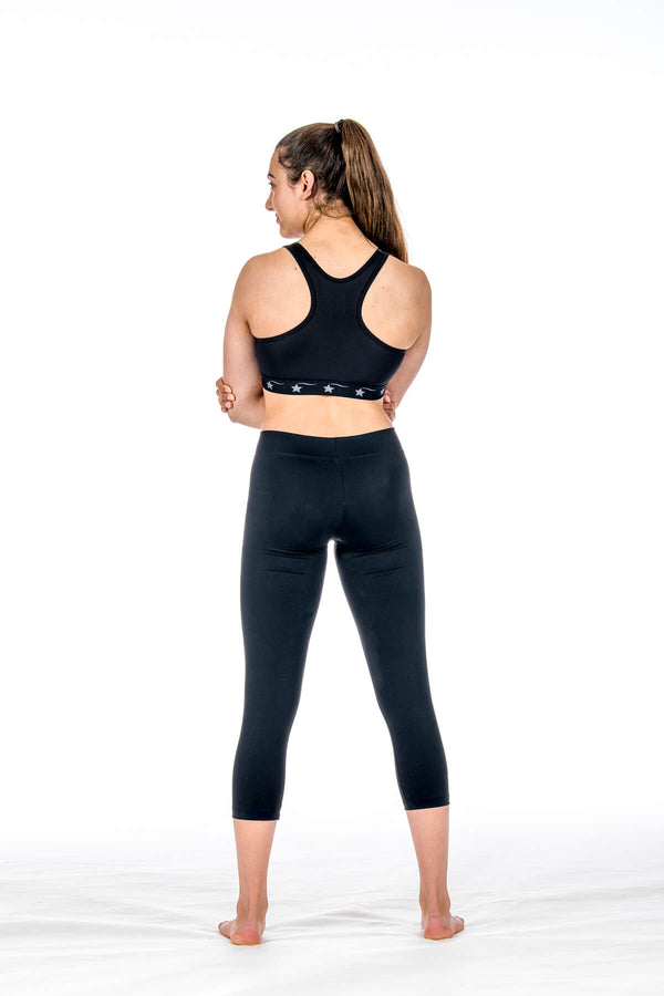 Racerback Sports Bra - Black Dri Tek