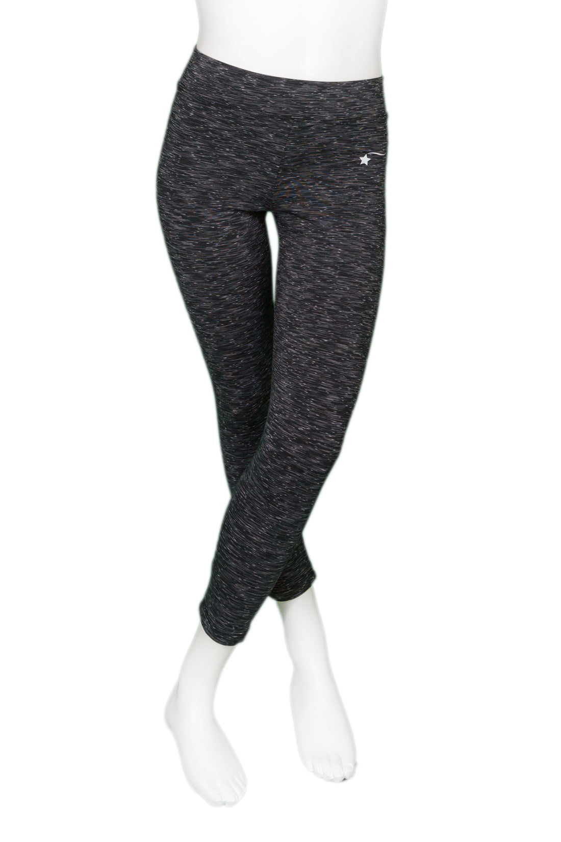 Black Space Dye Cropped Leggings
