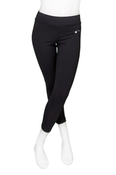 Black Zen Cropped Leggings
