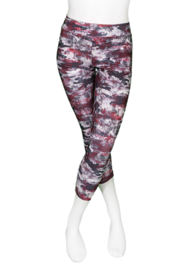 Printed Cropped Leggings - Cosmic Camo