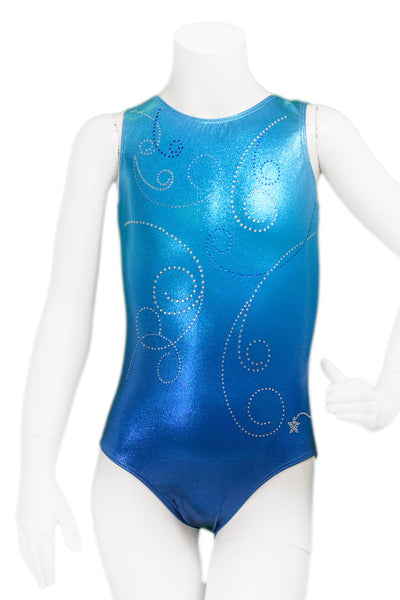 Flurry Turquoise Ombre Leotard