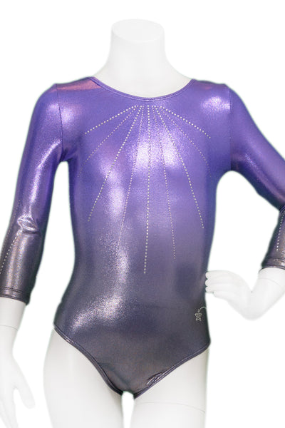 Luna Lavender Long Ombre Sleeve Leotard