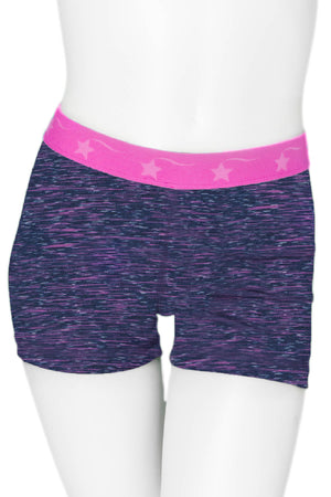 Purple & Fuchsia Power Flex Short