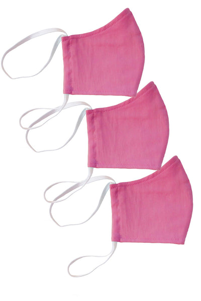 Azalea Pink Face Mask 3-Pack