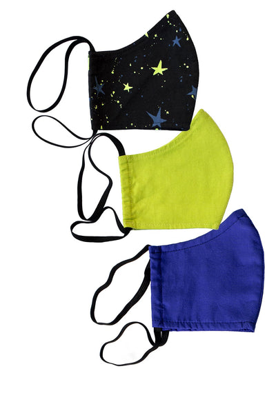 Galactic Neon Face Mask 3-Pack