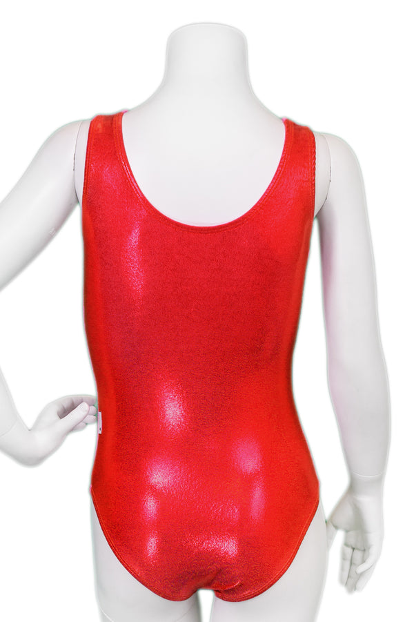 Basic Tank Leotard in Mystique - Red