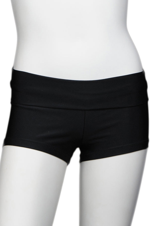 Black Short with Bright Color Waistband - Black Band