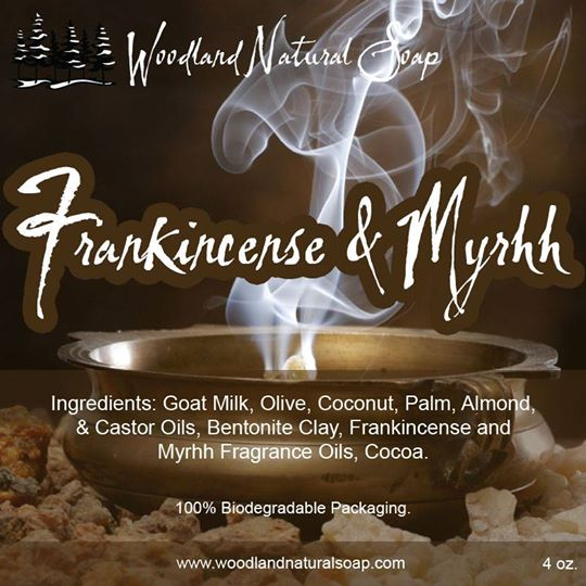 Frankincense and Myrrh All Natural Goat Milk Soap