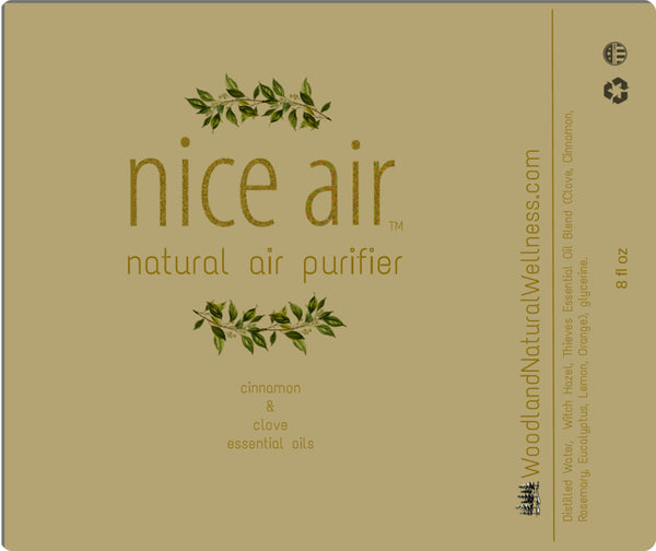 nice air Warm Spice Natural Essential Oil Room Spray Freshener and Air Purifier