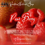 Pear Berry All Natural Goat Milk Soap