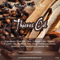 Thieves Oil All Natural Goat Milk Soap