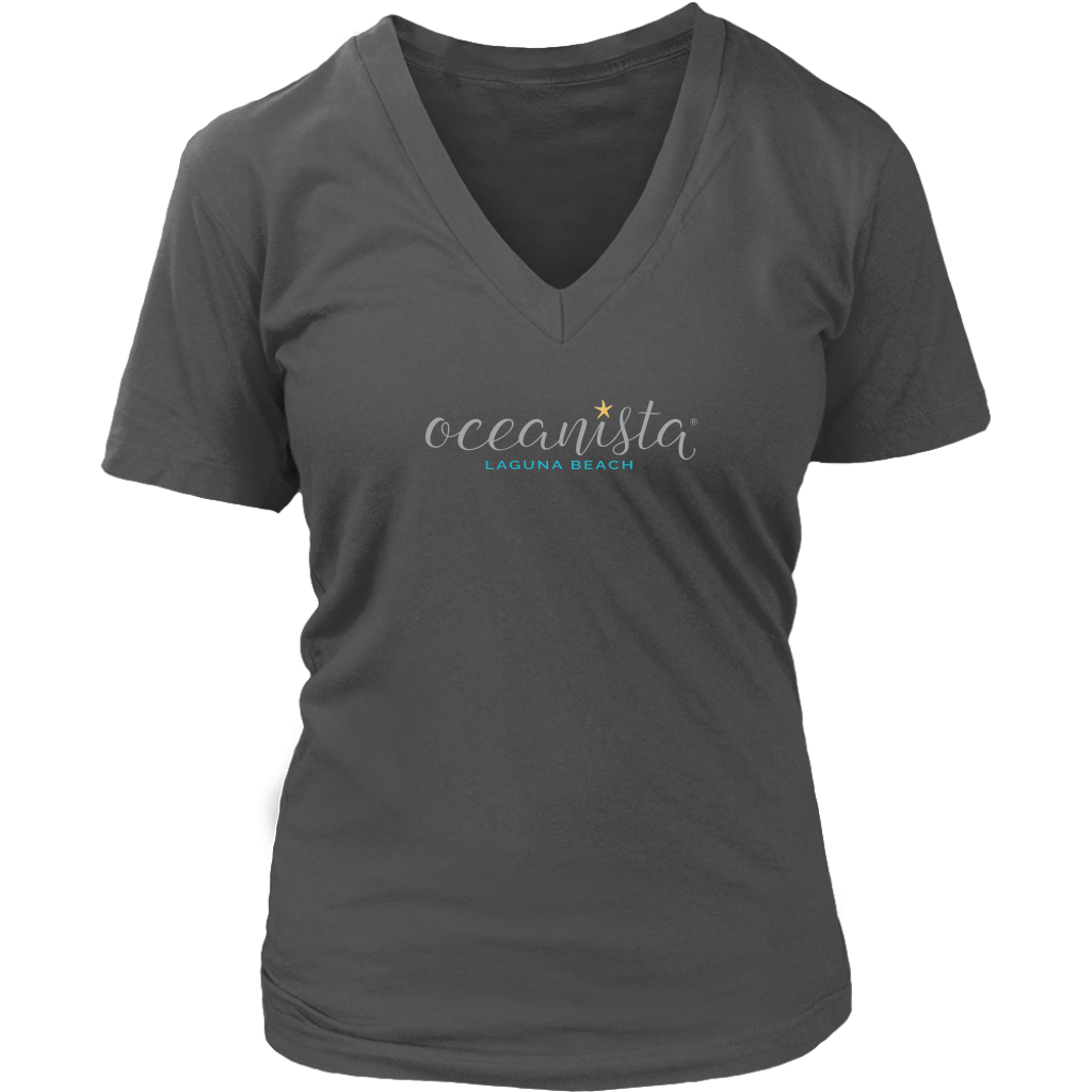 District Womens V-Neck T-Shirt - 8 colors Available in 7 Sizes! - Oceanista