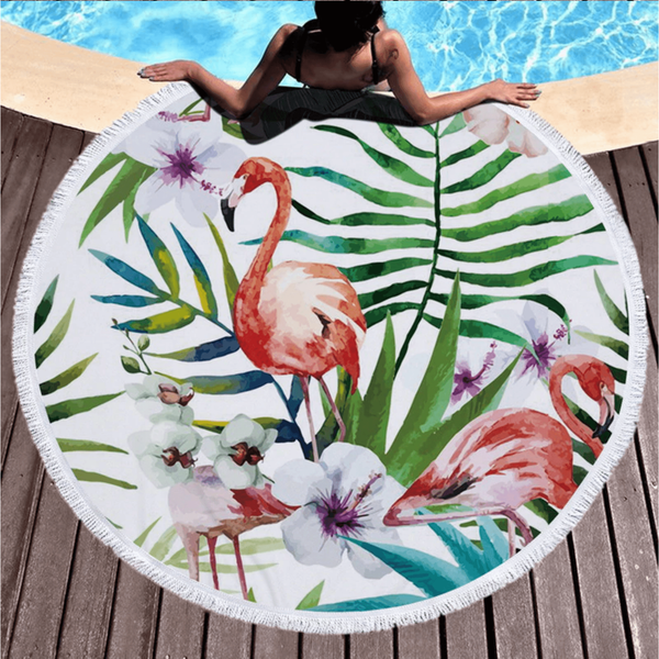Tropical Round Beach Towel - Oceanista