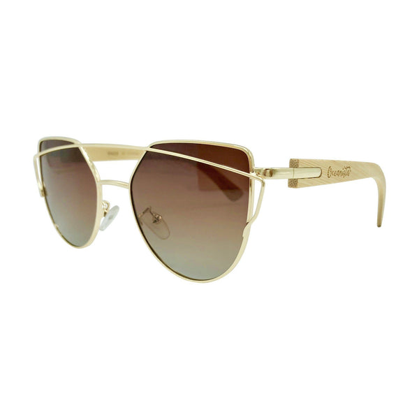 Bamboo UV 400 Polarized Aviator Sunglasses by Oceanista - Oceanista