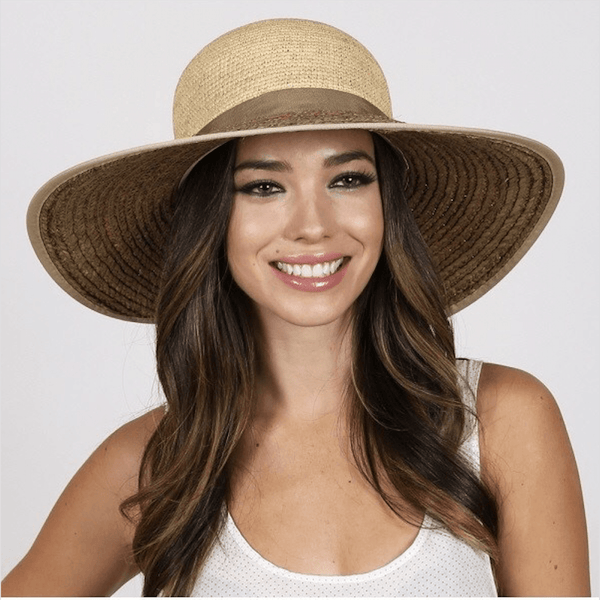 Too Too Raffia Sun Hat with Bow - Oceanista