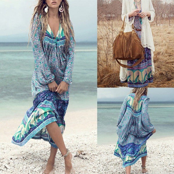 Women's Summer Bohemian Beach Dress - Oceanista