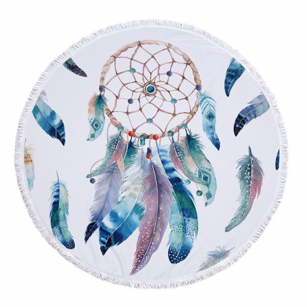 Dreamcatcher Round Beach Towel - Oceanista