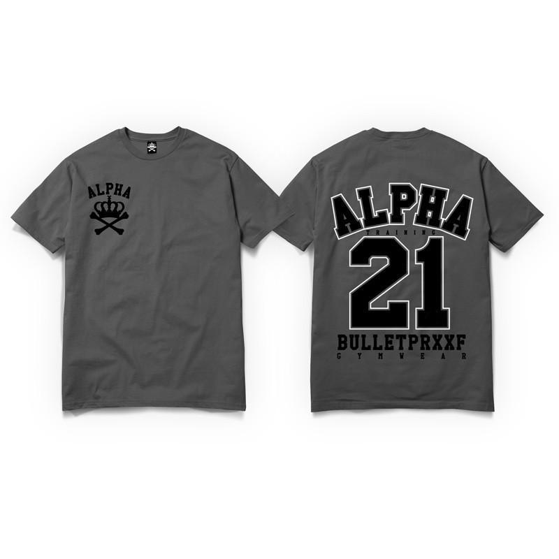 Born Alpha | Alpha Training Clothing S / Black on Red Original Alpha 21 T-Shirt