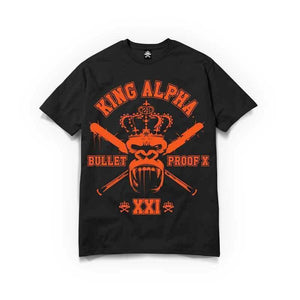 Born Alpha | Alpha Training Clothing S / Orange / Black King Alpha T-Shirt