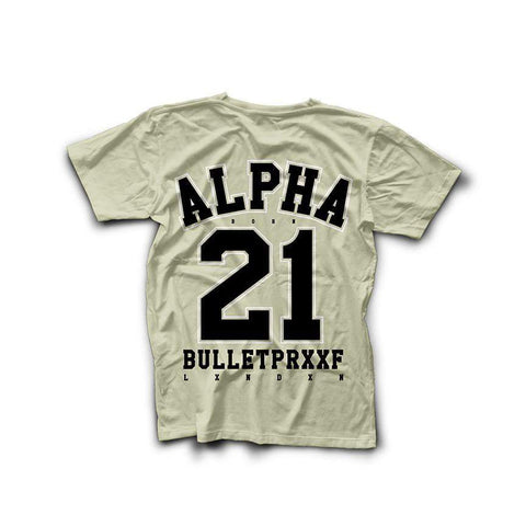 Born Alpha | Alpha Training Clothing Small / Black on Cream New Alpha 21 T-Shirt