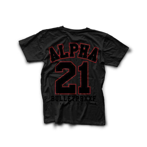 Born Alpha | Alpha Training Clothing Small / Red on Black New Alpha 21 T-Shirt
