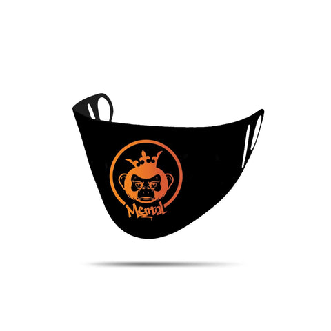 Image of Mental Hamster Accessories Black/Orange Mental Monkey Mental Hamster Face Cloth