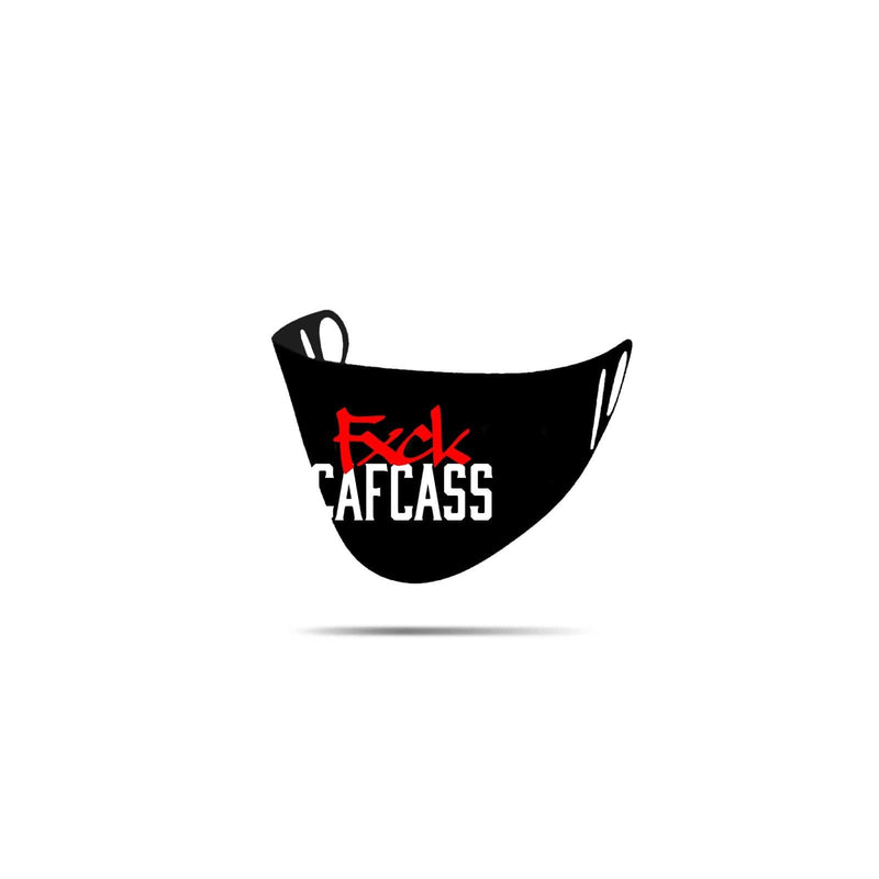 Mental Hamster Accessories Black/Red FXCK Cafcass Mental Hamster Face Cloth