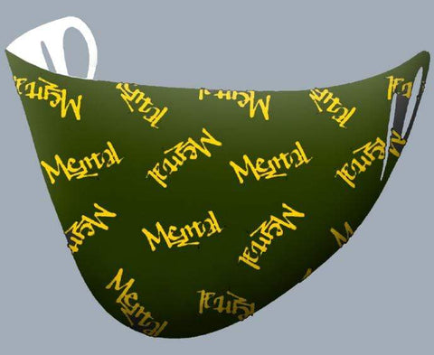 Image of Mental Hamster Accessories Khaki/Yellow Mental Mental Hamster Face Cloth