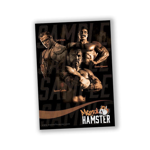 Image of Mental Hamster Accessories Not Signed Limited Edition Poster - Lee Priest, Samir Bannout & Aarron Lambo