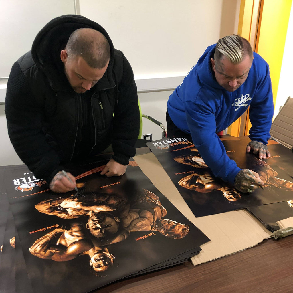 Mental Hamster Accessories Signed by Lee Priest and Aarron Lambo Limited Edition Poster - Lee Priest, Samir Bannout & Aarron Lambo