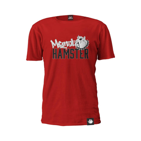 Mental Hamster Clothing Small / Red Mental Hamster Black & White Logo Tee