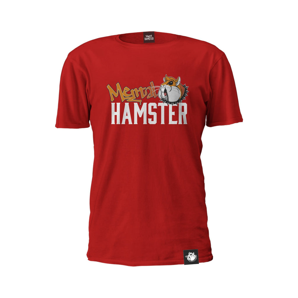 Mental Hamster Clothing Small / Red Mental Hamster Logo Tee
