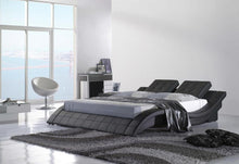 Courier contemporary platform Bed (Black & White)
