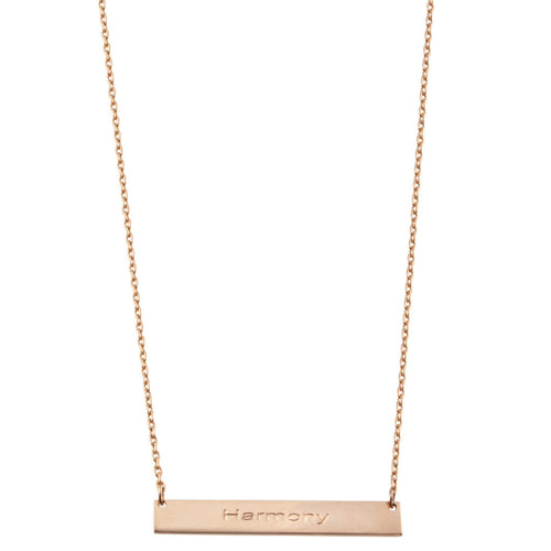 HARMONY BAR NECKLACE