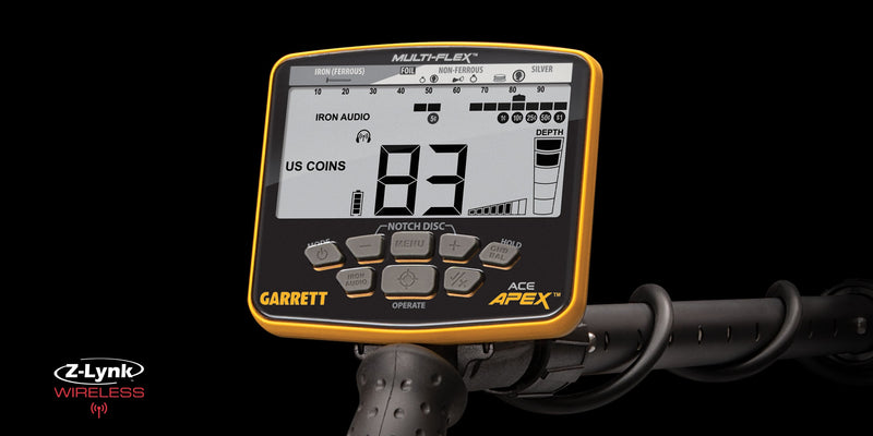 Garrett Ace Apex Metal Detector with Wireless Headphones Package (NEW UPGRADED SOFTWARE)