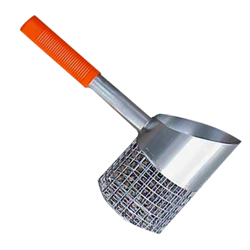 "RTG Galvanized Shorty 4"" Quick Drain Sand Scoop #SS-SHORTY"