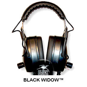 DetectorPro Gray Ghost Black Widow Headphones
