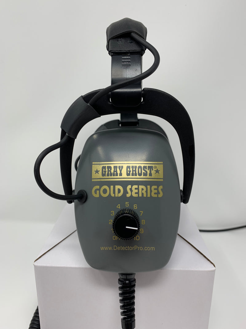 Gray Ghost Gold Series Headphones for Minelab Gold Monster and Equinox Series Detectors