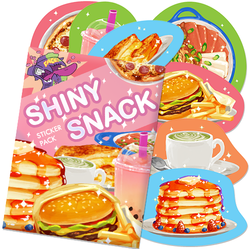 Shiny Snack Sticker Pack