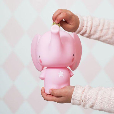 A Little Lovely Company | Elephant Money Box - Pink | A Little Find