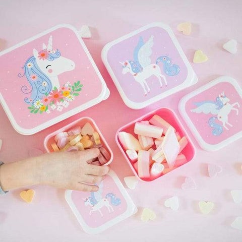 A Little lovely Company | Unicorn Lunch & Snack Box Set | A LITTLE FIND